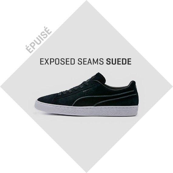 EXPOSED SEAMS SUEDE